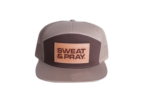 SP LEATHER PATCH SNAPBACK - KHACKI