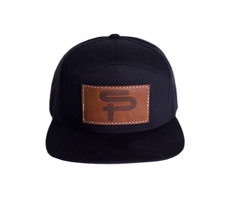 SP LEATHER PATCH SNAPBACK - BLACK