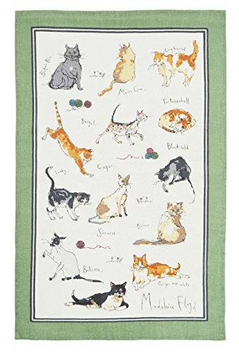 Madeleine Floyd Linen Cat Tea Towel