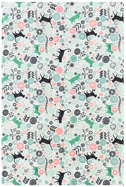 Vicky Yorke Kitchen Cats Tea Towel