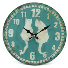 Large Frosted Glass Cat Clock (Large)