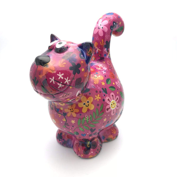 "Bright Pink Ceramic Pomme Pidou ""Dorothy"" Cat Money Box"
