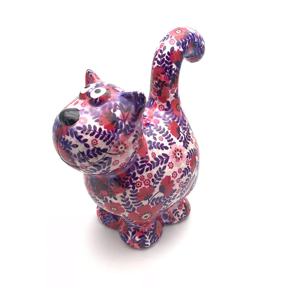 "White & Purple Ceramic Pomme Pidou ""Dorothy"" Cat Money Box"