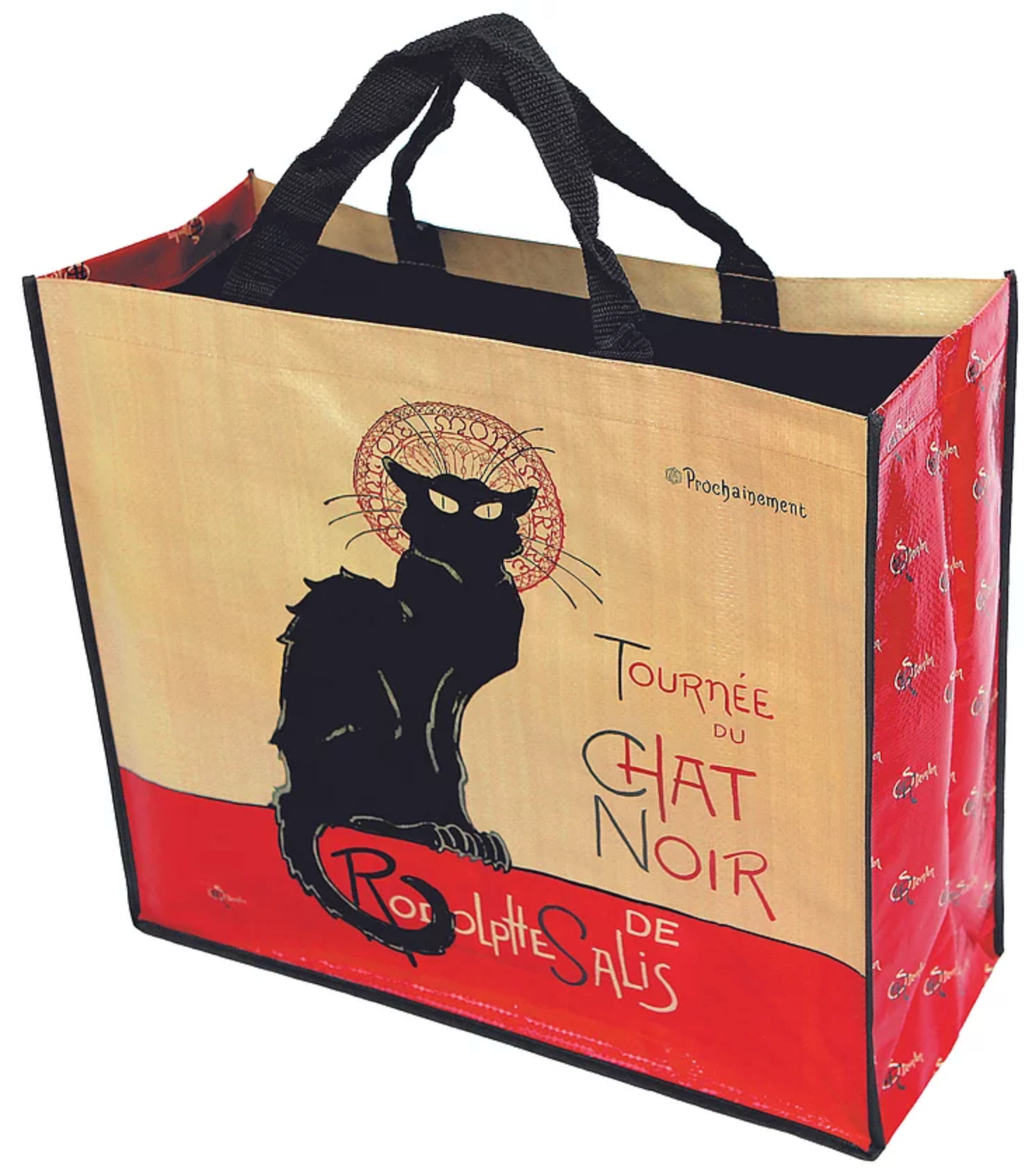 Black Cat Large Shopping Gusset Tote Bag (Tournée Du Chat Noir)