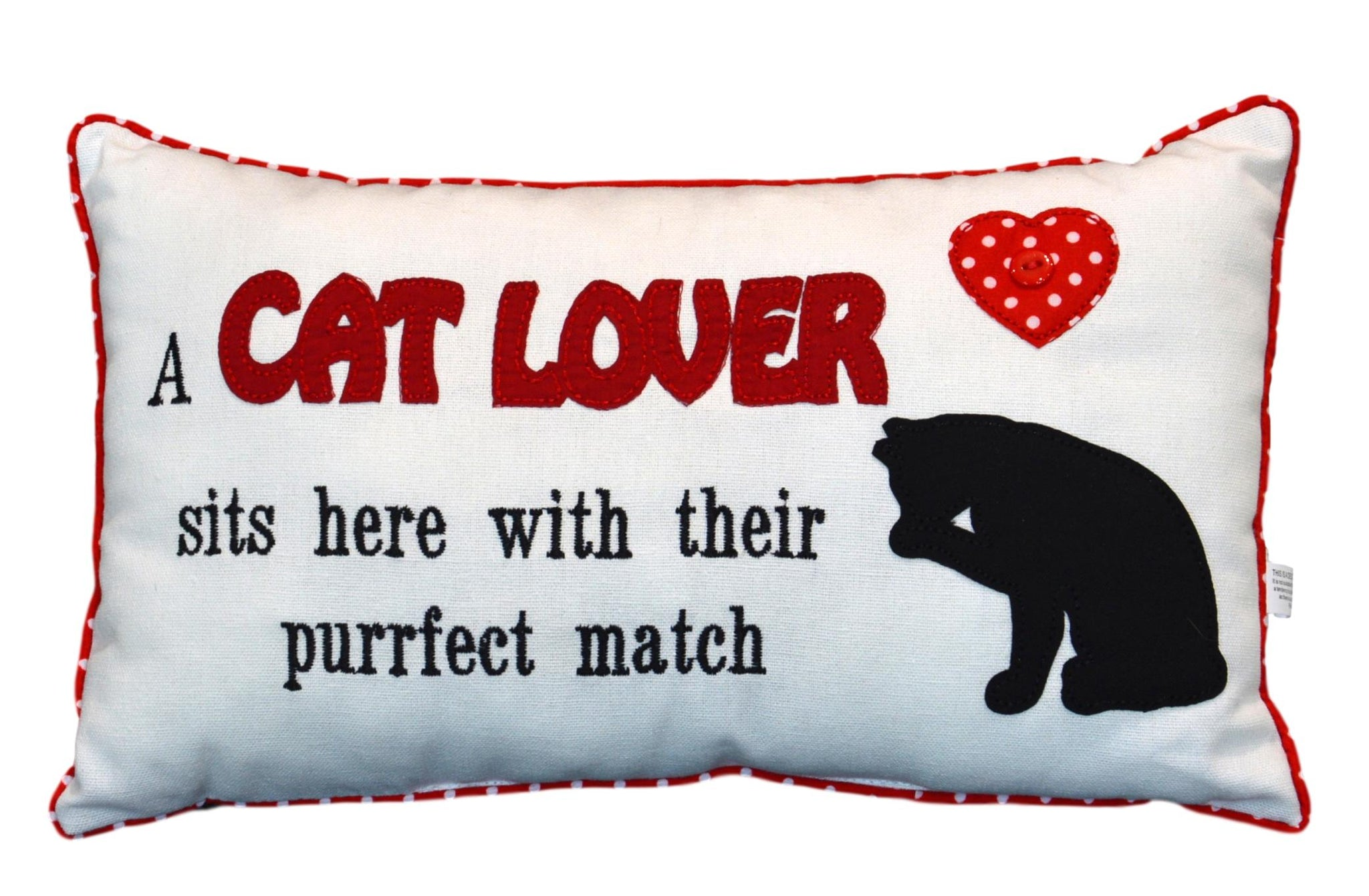A Cat Lover Sits Here Cushion
