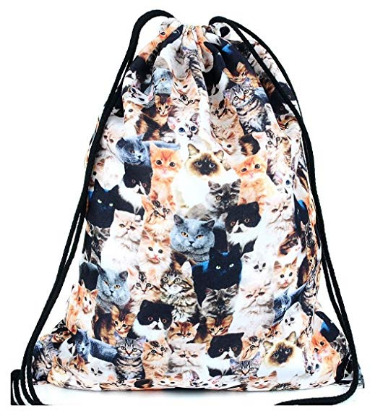 Cats Pattern String Backpack