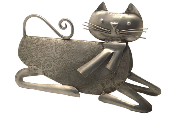 Rajasthan Artwares Etching Metal Cat