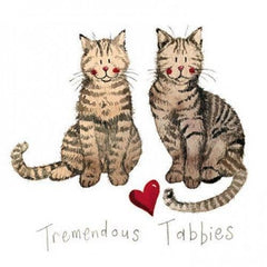 Tremendous Tabbies Greeting Card
