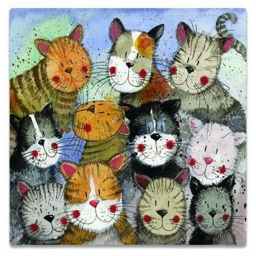 Cat Fridge Magnets by Designer Alex Clark