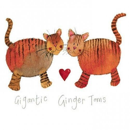 Gigantic Ginger Toms Greeting Card