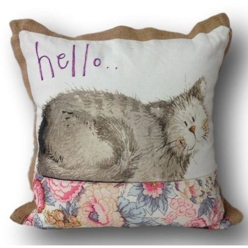 Hello Cat Cushion