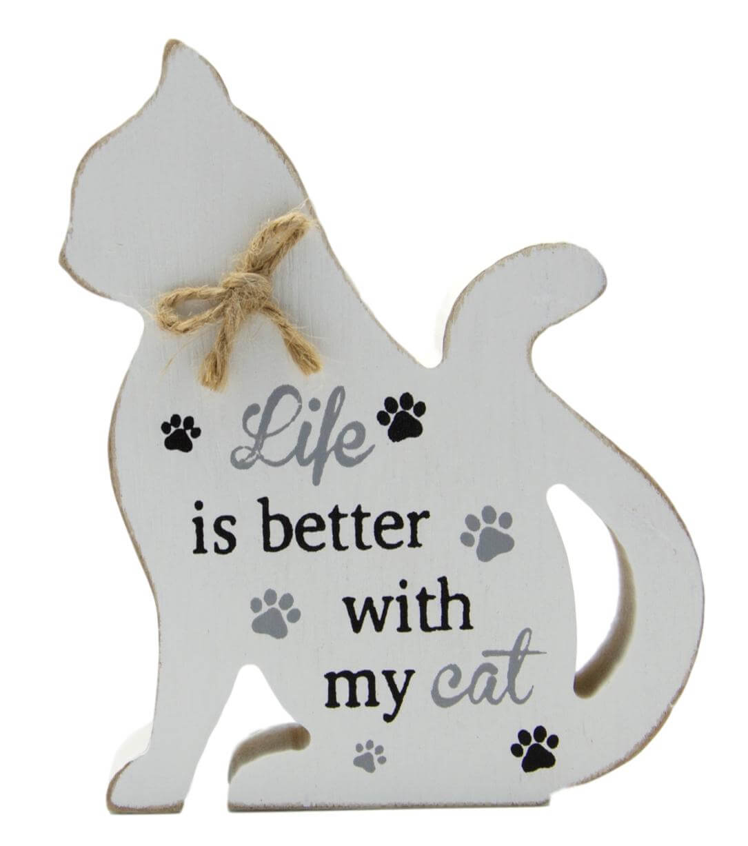 Life is Better with My Cat Plaque