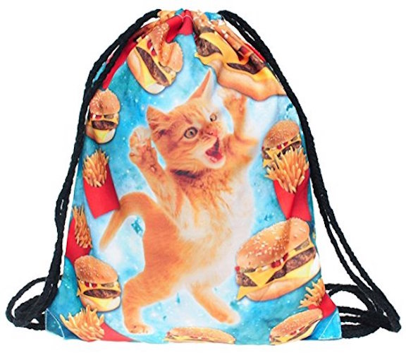 Cats Fast Food String Backpack