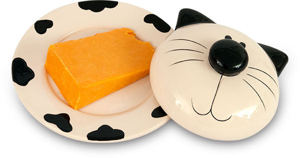 Cat Ceramic Butter / Cheese Dish