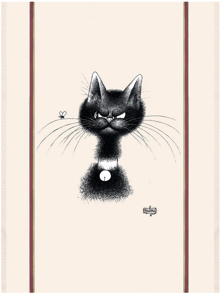 Chat Mouche (The Fly) Dubout Cats Tea Towel