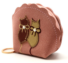 Suede Cat Coin Purses