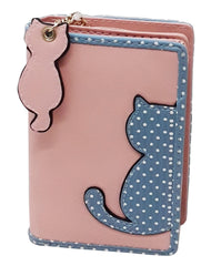 Bi-fold Colourful Cat Purse (3087)