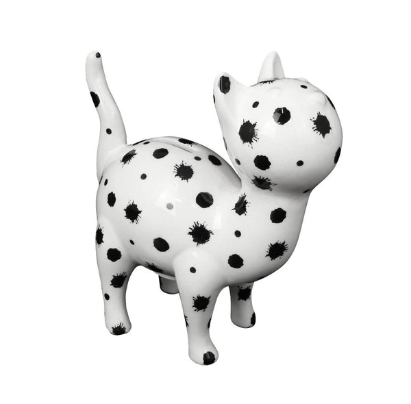 Paint Black & White Ceramic Pomme Pidou Mia Cat Money Box