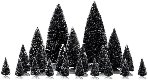 Lemax Christmas Village Assorted Pine Trees #34968 Set of 21