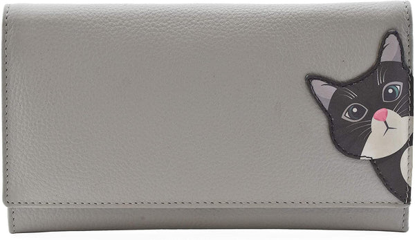 Cleo the Cat Matinee Purse Grey