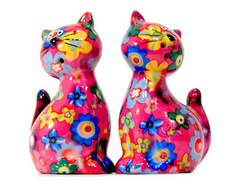 Pomme Pidou Caramel Cat Ceramic Salt and Pepper Set
