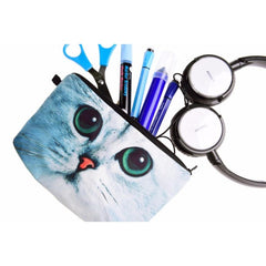 Green Eye Cat Make-Up / Clutch Bag