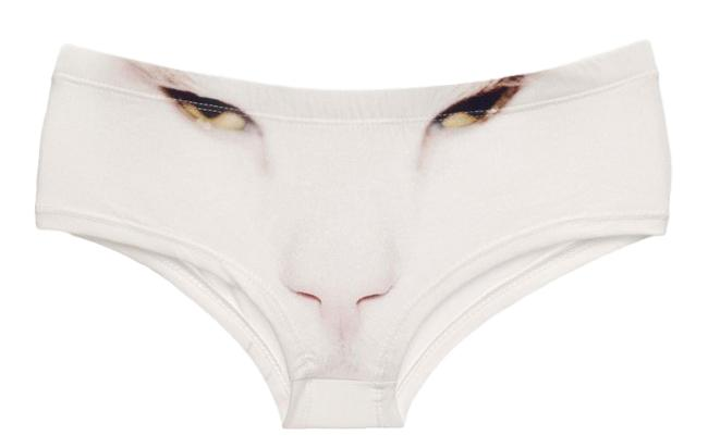 White Cat Hipster Panties