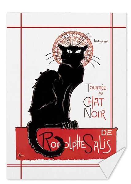 Black Cat Tea Towel (Tournée du Chat Noir)