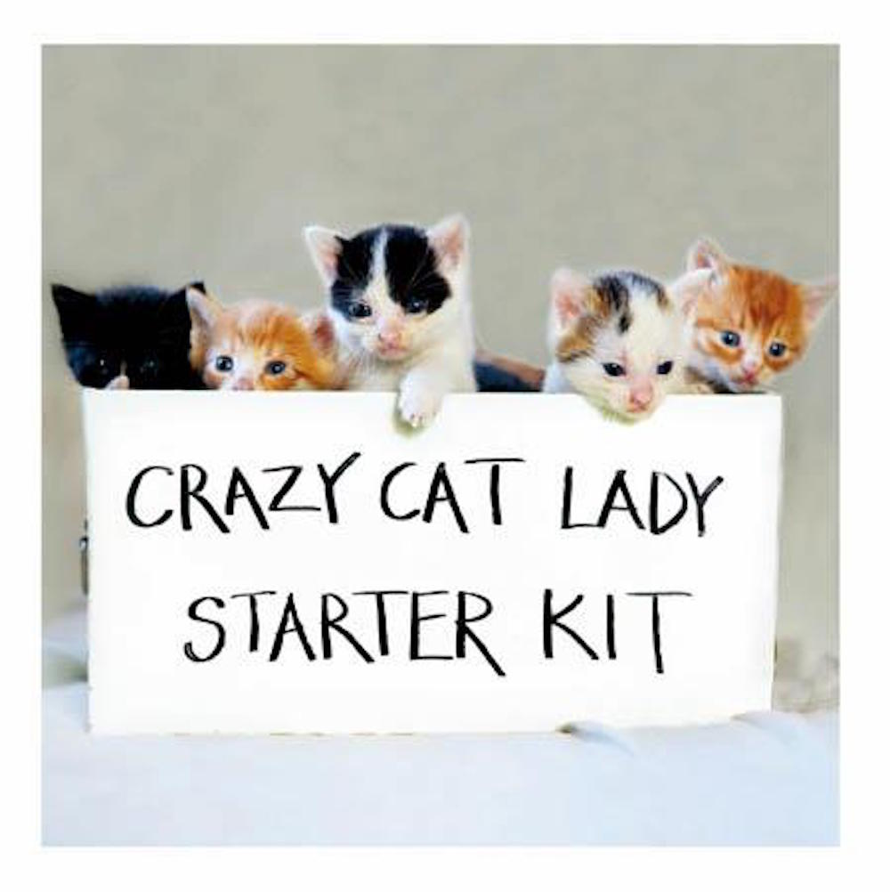 Crazy Cat Lady Starter Kit Cat Greeting Card
