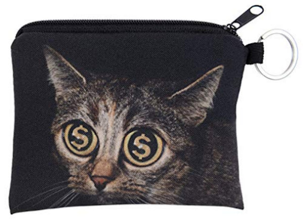 Cat Gold Small Coin Purse