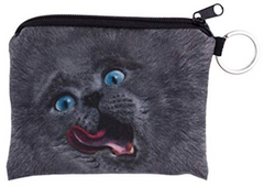 Lick Me British Blue Cat Small Coin Purse