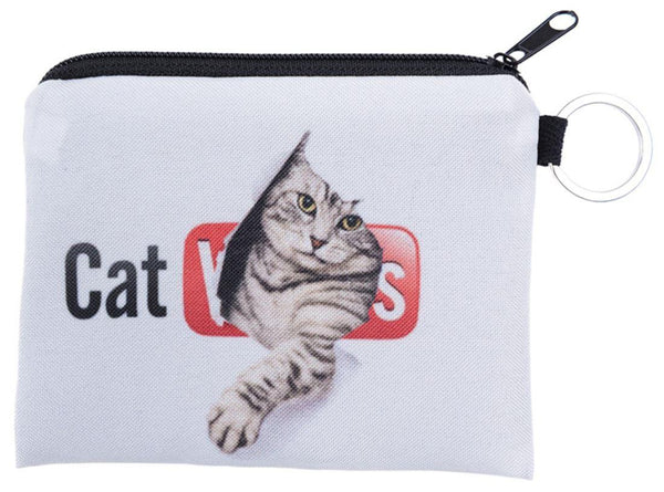 Cat Videos Small Coin Purse