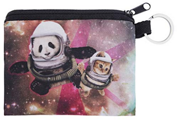 Cat and Panda Small Coin Purse