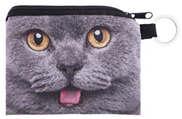 British Blue Cat Small Coin Purse