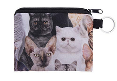Multi Cats Cat Small Coin Purse