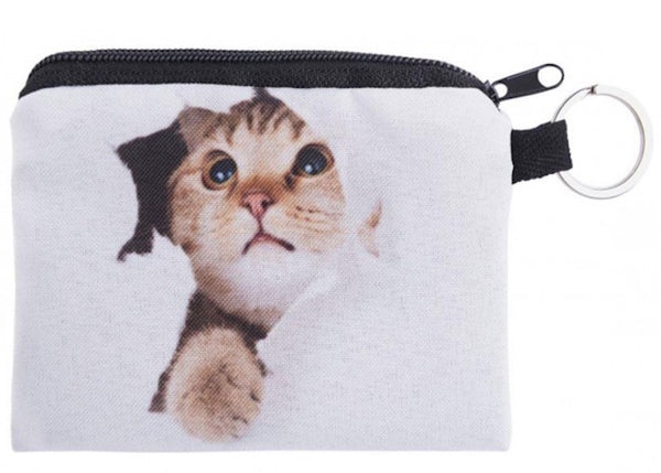 Cat Hole Small Coin Purse