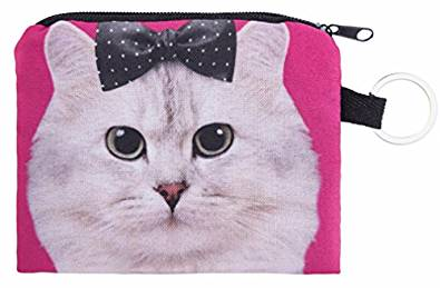 Bow Cat Small Coin Purse