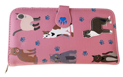 Assorted Cats Large Flap Over Purse