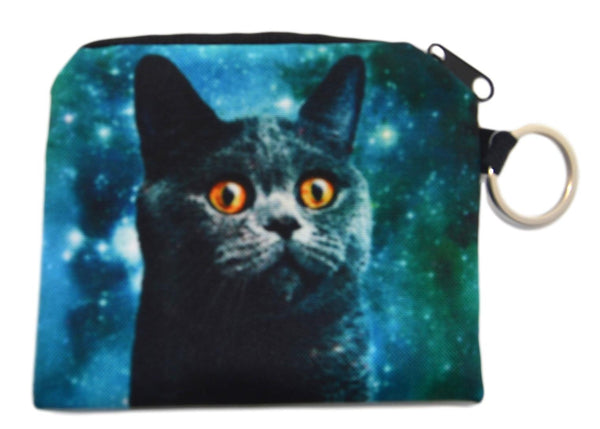 Cat & Stars Coin Purse