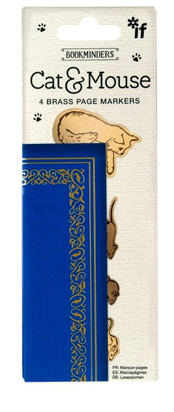 Cat & Mouse Brass Page Markers / Bookmark