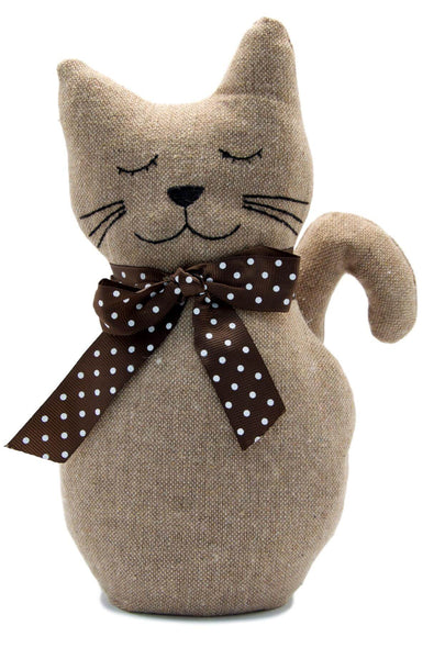 Standing Cat Fabric Door Stop