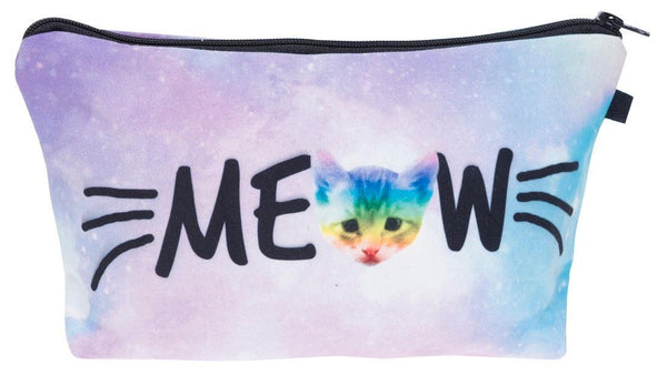 Meow Cat Make-Up / Clutch Bag