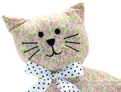 Floral Cat Fabric Door Stop