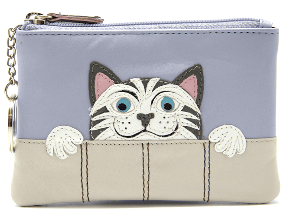Mala Leather The Neighbours Cat Coin Purse