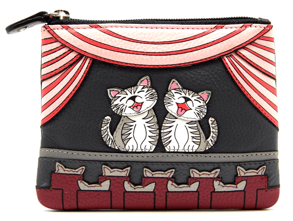 Mala Leather Cats the Meowsical Coin Purse
