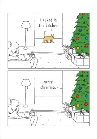 They Can Talk Cat Christmas Card