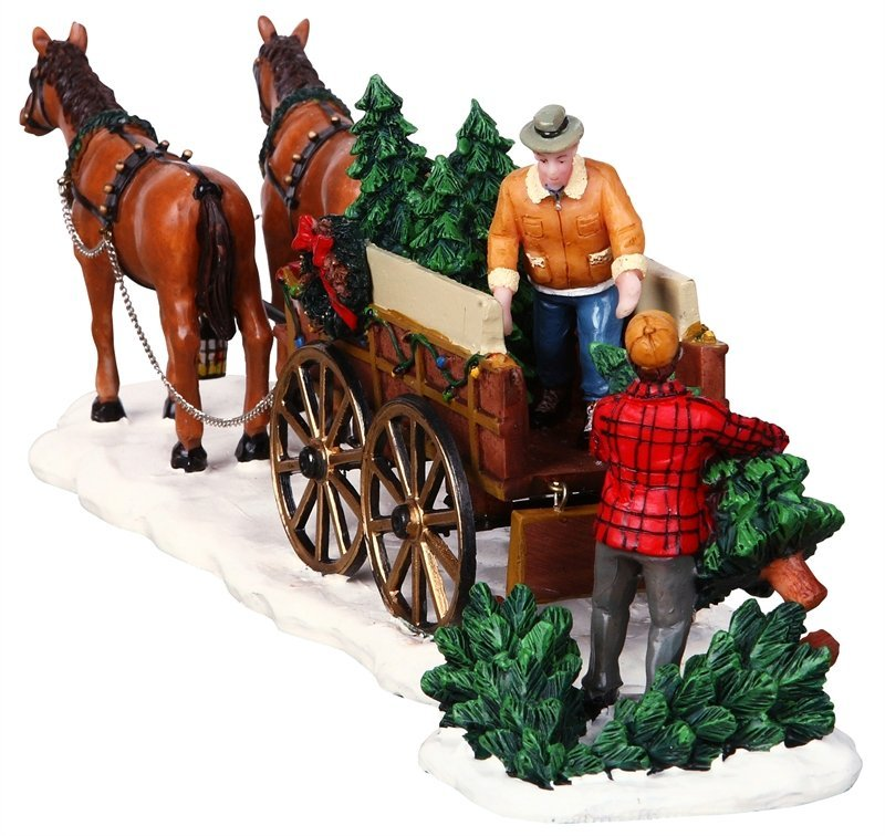 Lemax Christmas Village Christmas Tree Wagon #43451