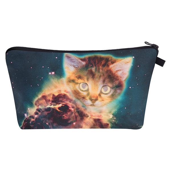 Galaxy Ginger Kitten Cat Make-Up / Clutch Bag