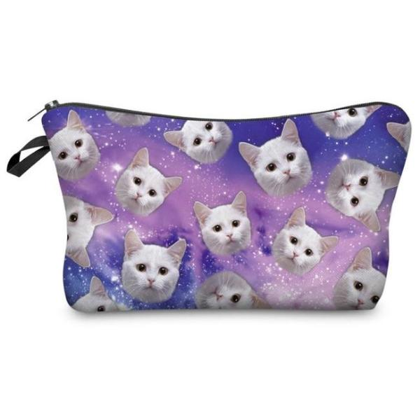 Cats in Space Make-Up / Clutch Bag