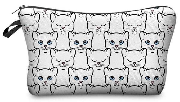 White Cat Make-Up / Clutch Bag